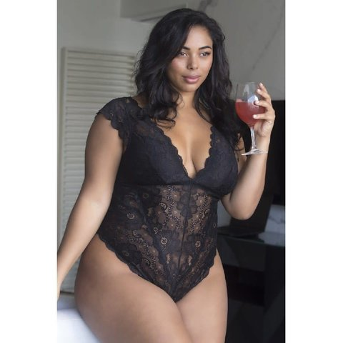 Suzette Soft Lace Teddy - Curvy