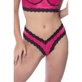 Oh La La Cheri Penelope Pink Scallop Lace Thong