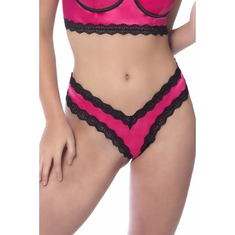 Penelope Pink Scallop Lace Thong
