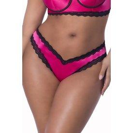 Oh La La Cheri Penelope Pink Scallop Lace Thong - Curvy