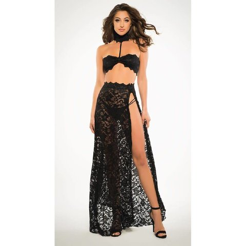 Lace Bandeaux and Tango Skirt