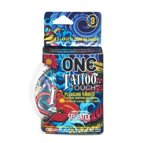 ONE Tattoo Touch Condoms 3pk