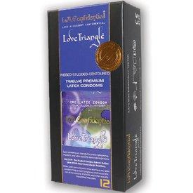 L.A. Confidential Condom Love Triangle 12pk