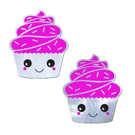 Pastease Hot Pink Frosting Cupcake Pasties