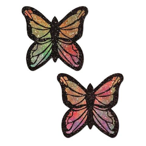 Glitter Pastel Rainbow Butterfly Pasties
