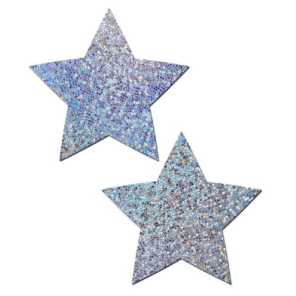 Pastease Silver Glitter Star Pasties
