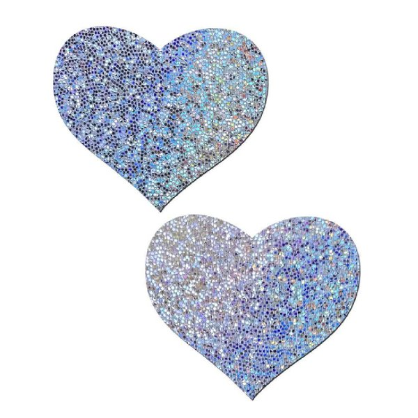 Pastease Silver Glitter Heart Pasties