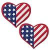 Glittering Patriotic USA Stars and Stripes Heart