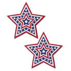 Pastease Glittering Patriotic USA Beating Star Pasties