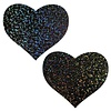 Black Glitter Heart Pasties