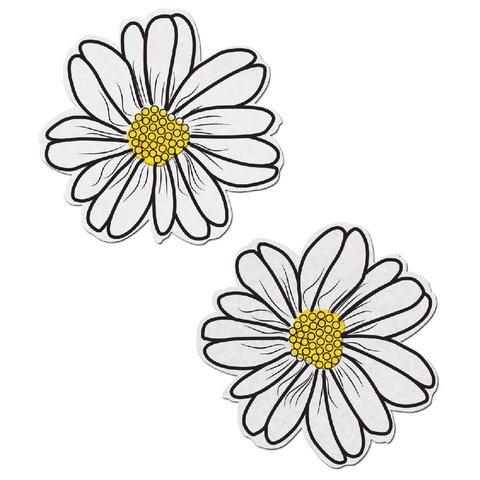 White and Yellow Wildflower Pasties