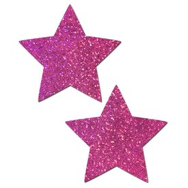 Pastease Hot Pink Glittering Star Pasties