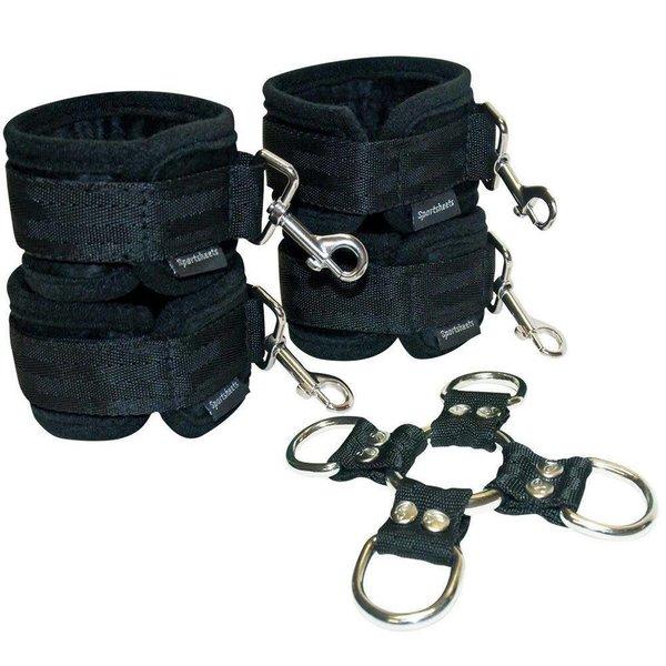 Sportsheets Manbound 5-Piece Hog Tie and Cuffs