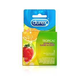 Tropical Flavors Condom 3-pack