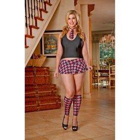 Exposed Student Body Schoolgirl Set