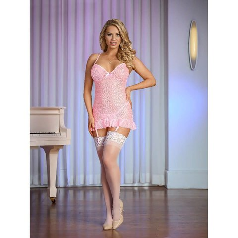 Chemise and G-String Set - Curvy