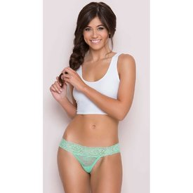 Seven 'til Midnight Rose Lace Thong Mint - Curvy
