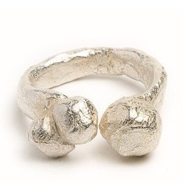 AC Hand Cast Sterling Silver Bubble Ring Size 7