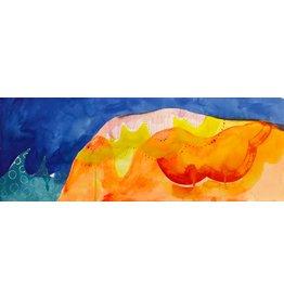 """Liz Tran Liz Tran ORANGE HILL 11 X 30"""" painting on paper"""
