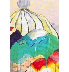 """Liz Tran Liz Tran BOULDER  22 x 15"""" painting on paper"""