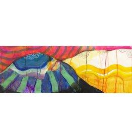 """Liz Tran Liz Tran GRAPE HILL 11 x 30"""" painting on paper"""