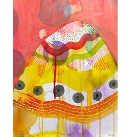 """Liz Tran Liz Tran HILL FOUR 10.25 x 13"""" painting on paper"""