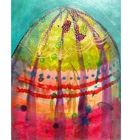 """Liz Tran Liz Tran HILL ONE 7.25 x 9"""" painting on paper"""
