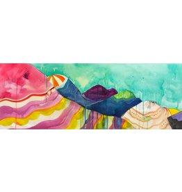 "Liz Tran Liz Tran RAIN DAY 11 x 30"" painting on paper"