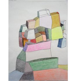 "Deborah Zlotsky Deborah Zlotsky WALLFLOWER 2 12x9"" colored pencil on paper"