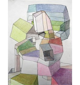 "Deborah Zlotsky Deborah Zlotsky WALLFLOWER 5 12x10"" colored pencil on paper"