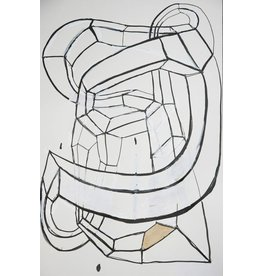 "Deborah Zlotsky Deborah Zlotsky KNOT DRAWING NUMBER 7 19 x 16"" ink, paint, pen on paper"