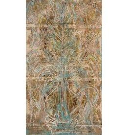 "Curt Labitzke Curt Labitzke BAROQUE VASE II 54.25 x 31.25"" mixed media on paper framed"