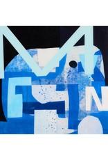 "Alfred Harris MOONWALK 18 x 18"" acrylic, resin, paper on panel"