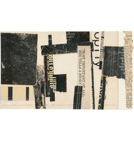 "Melinda Tidwell Melinda Tidwell MOST IMPORTANT OF ALL 5 x 8"" collage on paper UNFRAMED"