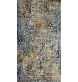 "Curt Labitzke Curt Labitzke PALIMPSEST - STACKED TUSCAN VASE I (BLUE) 60 x 32"" paint on canvas unframed 2017"