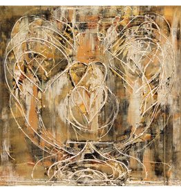 "Curt Labitzke Curt Labitzke PALIMPSEST - ROMAN VASE II 24 x 24"" paint on canvase framed 25.5 x 25.5"" 2017"