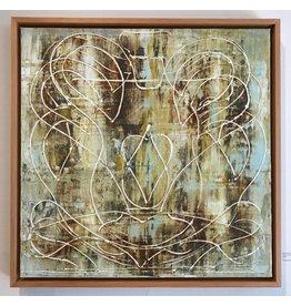 "Curt Labitzke Curt Labitzke PALIMPSEST - ROMAN VASE V 24 X 24"" paint on canvas framed 25.5 x 25.5"" 2017"