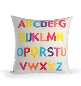 Alexandra Ferguson AF ABC Pillow 22x22 Stone/Rnbw