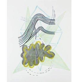 "Lydia Bassis Lydia Bassis SHRUG 2 14x11"" acrylic on paper, unframed"