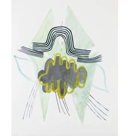 "Lydia Bassis Lydia Bassis SHRUG 3 14x11"" acrylic on paper, unframed"