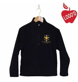 Elder Navy Blue Half Zip Microfleece Jacket #1000