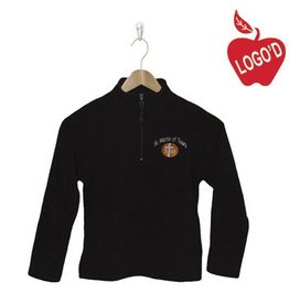 Elder Black Half Zip Microfleece Jacket #1000