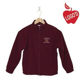 Elder Wine Full Zip Microfleece Jacket #1001