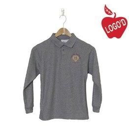 Elder Grey Long Sleeve Pique Polo