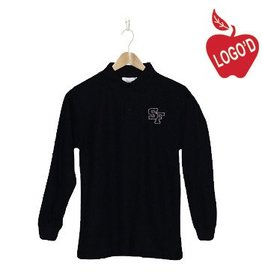 Elder Black Long Sleeve Pique Polo #5639