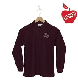 Elder Wine Long Sleeve Pique Polo