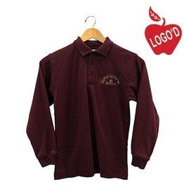Elder Wine Long Sleeve Interlock Polo #5671