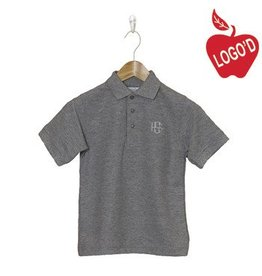 Elder Grey Short Sleeve Pique Polo #5738