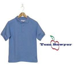Elder Light Blue Short Sleeve Interlock Polo #5771