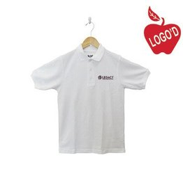 K12 Gear White Short Sleeve Pique Polo #6338